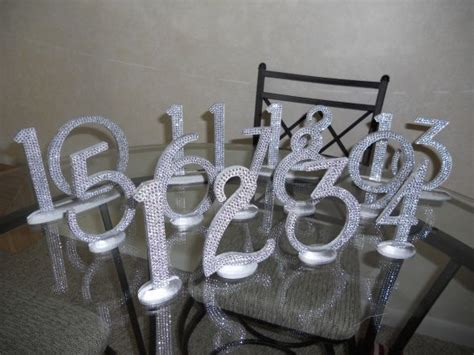 Diy Bling Table Numbers But Maybe Spray Paint With