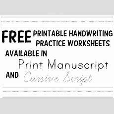 Handwriting Practice Worksheets  1000s Of Free Printables In Print And Cursive