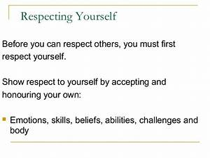 importance of having respect for others