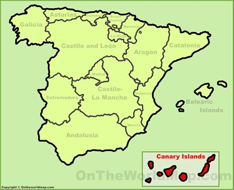 canary islands location   spain map
