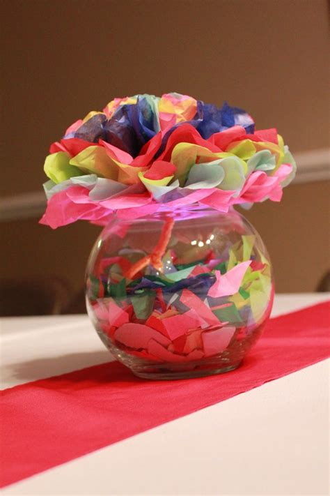 paper centerpieces for tables fiesta party table centerpieces by nikki decorations by