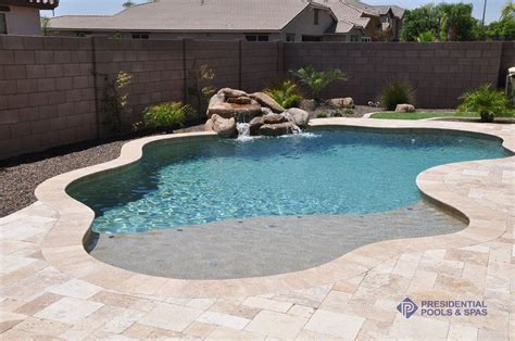 simple pools simple and small pool with sand bar by presidential pools cool pools pinterest small