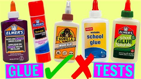 Testing Different Types Of Glues For Slime! Which Glue Is