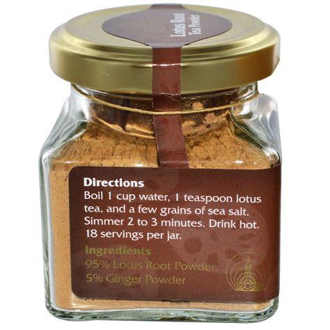root tea eden foods lotus root tea powder 2 oz 56 g iherb com