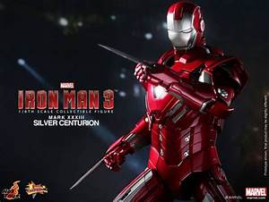 Iron Man 3 Hot Toys Silver Centurion Iron Man Pre-Order ...