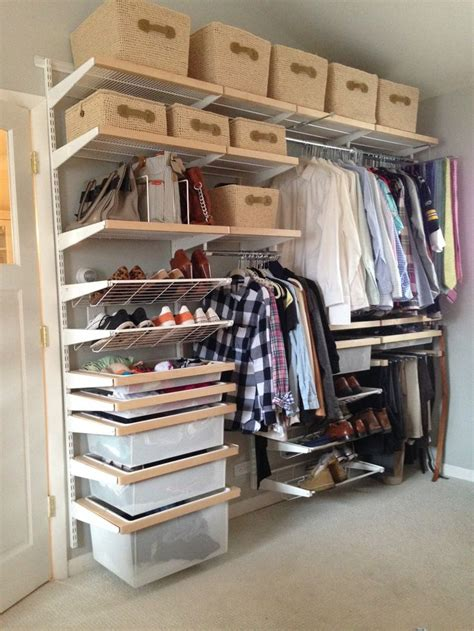 elegant bedroom storage design  cozy lowes closet