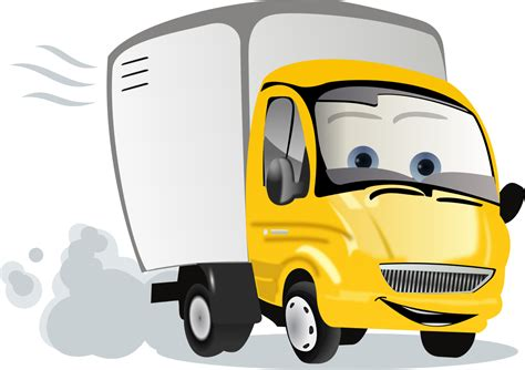 Library of cartoon delivery truck banner stock png files ...