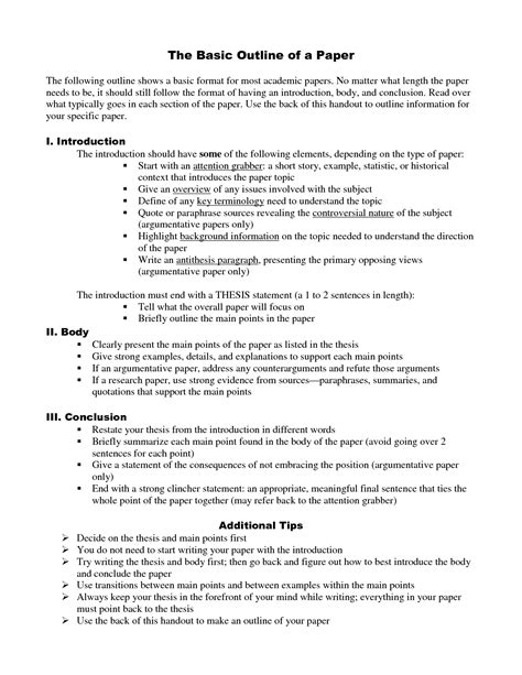 format of an apa paper apa research paper outline free download 20 high