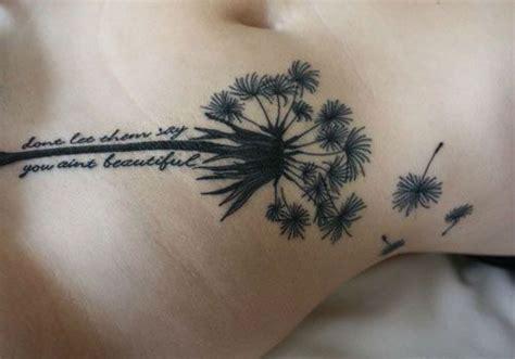 breathtaking dandelion tattoo designs