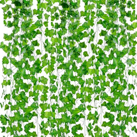 The ivy wall is the perfect decoration for your house while protecting privacy! 12 Branch 6.89Ft Artificial Ivy Silk Fake Hanging Vine ...