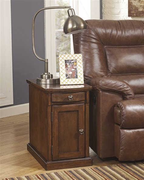 ashley furniture end table with power t127 565 ashley furniture power chairside end tables
