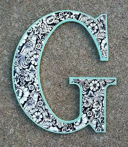 Wooden Decorative Letter G by sorelleaccessories on Etsy