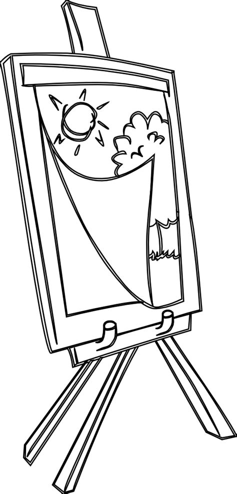 easel coloring pages