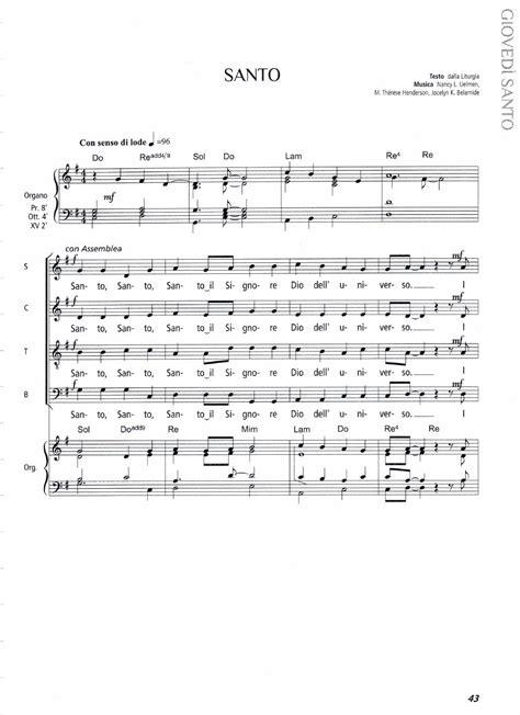 santo testo 06 santo il mistero pasquale verde spartiti di