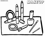 Makeup Coloring Pages Printable Print Colorings sketch template