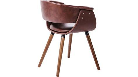 chaise simili cuir marron achetez votre chaise simili cuir marron et bois vintage