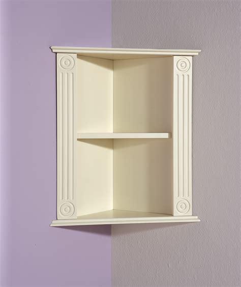 White Floating Triangle Corner Shelf Wood For Cowboy