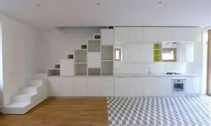 Escalier entre cuisine et salon mod le et plan de maison for Escalier entre cuisine et salon