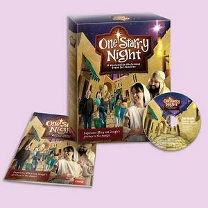 Scene setters Christmas nativity and Starry nights on