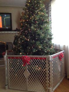 handmade fence dog proofing christmas tree saving