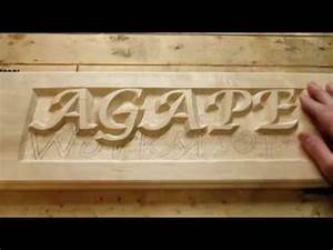 hand carving raised letters part1 youtube With make market carved wood letter