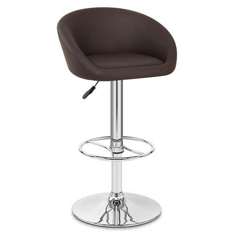 chaises de bar but tabouret de bar cuir chrome zenith monde du tabouret