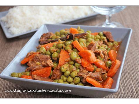 petit plat facile à cuisiner petits pois carottes يخنة البازلاء les joyaux de sherazade