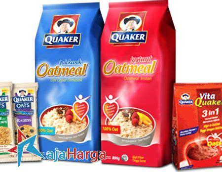 Harga Merk Oatmeal Untuk Diet daftar harga produk quaker oatmeal untuk diet terbaru 2019