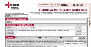 minor electrical installation works certificate template - electrical testing reports and certificates