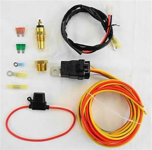 New Electric Cooling Fan Wiring Install Kit 185  165
