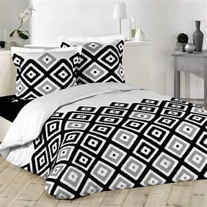 Parure De Lit Marbre : parure de lit 3 pi ces kami 220x240cm noir blanc ~ Melissatoandfro.com Idées de Décoration