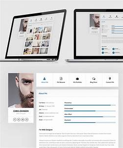 Resume and portfolio website templates free psd download for Personal resume website templates free download