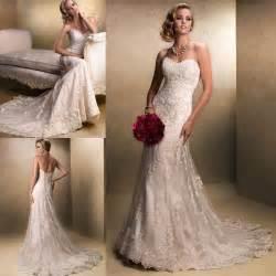 wedding dresses lace new white ivory lace wedding dress bridal gown stock size 6 8 10 12 14 16 ebay
