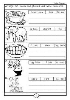 jumbled sentences images english grammar