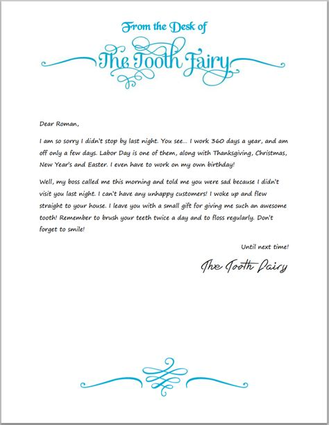 tooth fairy writing paper researchmethodswebfccom