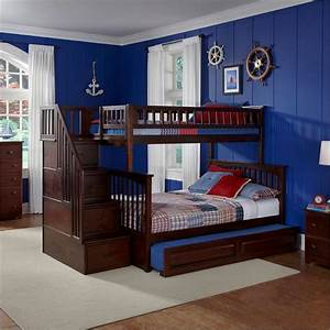 Build a Twin over Full Bunk Bed with Stairs ...