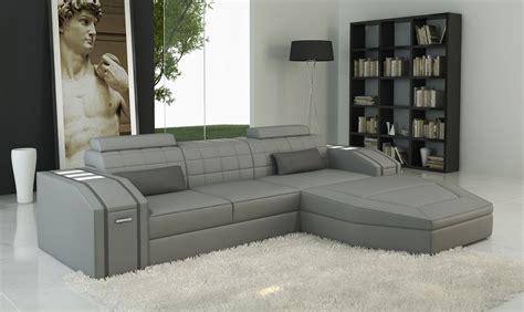 Contemporary Grey Sofa by Divani Casa 5038b Modern Grey Bonded Leather Sectional Sofa