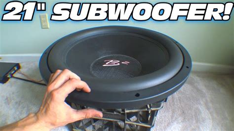 subwoofer auto test 21 quot subwoofer abuse w b2 audio xm 21 inch sub excursion exo s free air testing