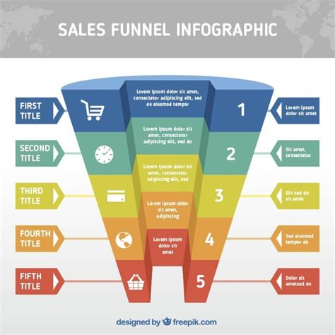realistic funnel infographic template