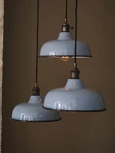Abat Jour Lampe : abat jour bateau emaillee lampe industrielle ~ Teatrodelosmanantiales.com Idées de Décoration
