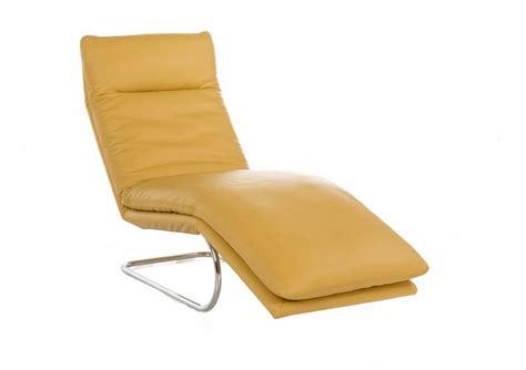 chaise longue cuir bodytouch chaise longue en cuir 65 cm