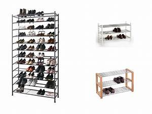 Schuhregal Metall Schwarz : schuhregal wand schmal wohn design ~ Frokenaadalensverden.com Haus und Dekorationen