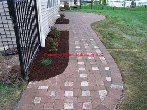 brick paver walkway patio outdoors