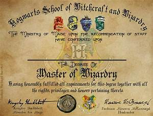 Hogwarts graduation diploma template harry potter fillable design hogwarts houses the knight for Hogwarts diploma template