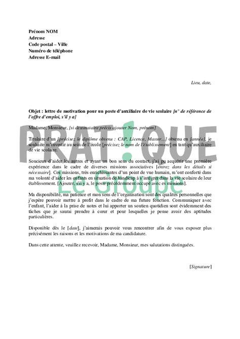 Modèle Lettre Modification Code Ape by Lettre De Motivation Animateur Famille Ccmr