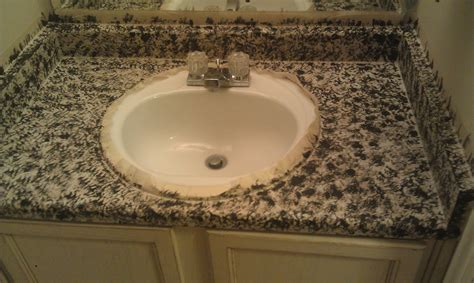How To Paint Granite Countertops by Delleydew Painted Faux Granite Countertop