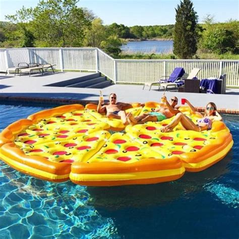 complete pizza pool float set the green head
