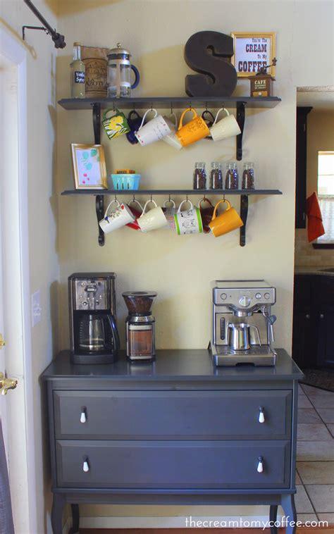 An elegant kitchen coffee bar idea for fall coffee bars in kitchen elegant kitchens kitchen redecorating. The Coffee Bar - Take 2   The Cream to My Coffee