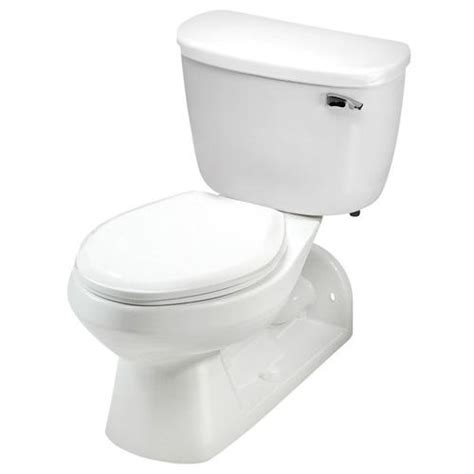 mansfield quantum el front rear outlet floor mount two toilet at menards 174