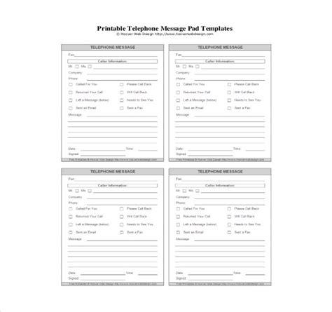 Printable Pad Template by 21 Phone Message Templates Pdf Doc Free Premium